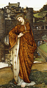 Religious Art Painting Posters - Our Lady of the Water Gate Poster by John Roddam Spencer Stanhope
