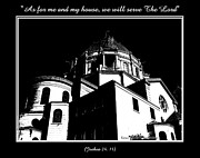 Serve Prints - Our Lady of Victory Basilica in Black and White Print by Rose Santuci-Sofranko