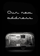 Black Posters - Our New Address Announcement Card Poster by Edward Fielding