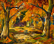 Autumn In The Country Prints - Our Place in the Woods Print by Mary Ellen Anderson