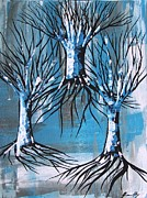 Tree Roots Painting Posters - Our Roots Go Deep Poster by Jean Fry