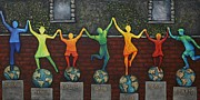 Dancing Reliefs Posters - Our World Poster by Linda Carmel