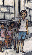 Black Family Pastels - Out and About by Samara Doumnande