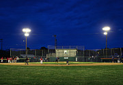 Ballgame Prints - Out At Second Print by John Greim