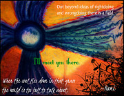 Vibrant Colors Mixed Media Posters - Out Beyond Ideas Poster by Catherine McCoy