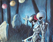 Headstones Paintings - Out For A Stroll 1 by Lori Keilwitz