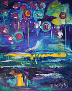 Intuitive Prints - Out In The Universe Print by Donna Blackhall