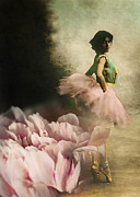 Ballet Dancer Photo Posters - Out of Starlit Dimness Poster by Rebecca Sherman