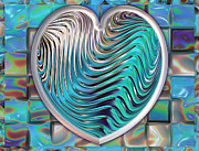 Silver Turquoise Digital Art - Out Of The Blue by Wendy J St Christopher