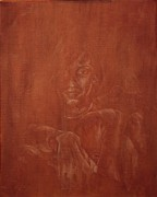 Fine Art  Of Women Paintings - Out Of The Dark-1 by Stan bert Singer