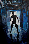 Homo-erotic Paintings - Out Of The Darkness 2657 by Lars  Deike