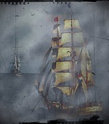 Pirates Digital Art Originals - Out of the Mist by Blair Stuart