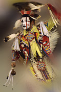 Pow Wow Metal Prints - Out Of Time Metal Print by Bob Christopher