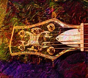 Out Of Tune Digital Guitar Art By Steven Langston Print by Steven Lebron Langston