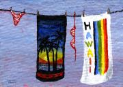 Poke Paintings - Out To Dry by Darice Machel McGuire
