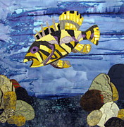 Fish Art Tapestries - Textiles Prints - Out to Lunch Print by Lynda K Boardman
