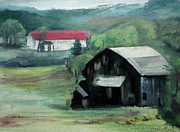 Old Barn Paintings - Out To Pasture by Randy Bell