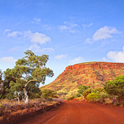 Dirt Road Posters - Outback Mount Nameless Western Australia Poster by Colin and Linda McKie