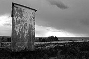 Outhouse Print Photos - Outbuilding bw by Kami McKeon
