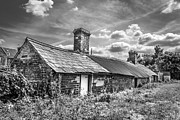 Outbuildings. Print by Gary Gillette