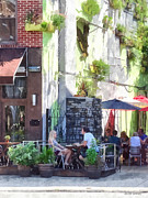 Al Fresco Art - Outdoor Cafe Philadelphia PA by Susan Savad