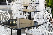 Table Photos - Outdoor Cafe Tables by Oscar Gutierrez