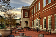 Dining Hall Posters - Outdoor Dining at the Courtyard Dining Hall of WCU Poster by Greg and Chrystal Mimbs