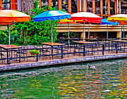 Riverwalk Photo Prints - Outdoor Dining Print by David and Carol Kelly
