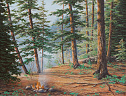 Campfire Paintings - Outdoor Life by Jake Vandenbrink
