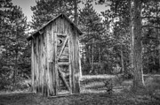 Cabin Metal Prints - Outdoor Plumbing Metal Print by Scott Norris