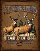 Cynthie Fisher Posters - Outdoor Traditions Mule deer Poster by JQ Licensing