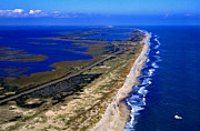 Pea Island Prints - Outer Banks Aerial Print by Thomas R Fletcher