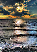 Original Photography Posters - Outer Banks - Radical Sunset on Pamlico Poster by Dan Carmichael