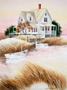 Dinghies Posters - Outer Banks Summer Morning Poster by Michelle Wiarda