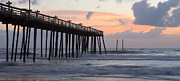 Panoramic Ocean Framed Prints - Outer Banks Sunrise Framed Print by Adam Romanowicz