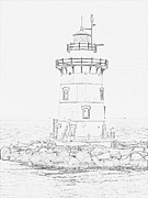 Saybrook Prints - Outer lighthouse stencil Print by Meandering Photography