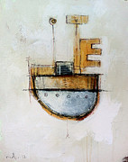 Ship Mixed Media Framed Prints - Outer Observance  Framed Print by Mark M  Mellon