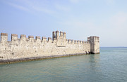 Fortifications Prints - Outer wall Scaligero Castle and Lake Garda Print by Matthias Hauser