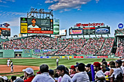 Red Sox Metal Prints - Outfield 2 Metal Print by Dennis Coates