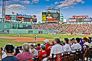 Red Sox Metal Prints - Outfield Metal Print by Dennis Coates
