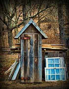 Hinges Prints - Outhouse - 5 Print by Paul Ward