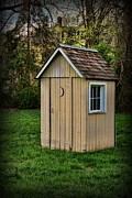 Hinges Prints - Outhouse - 8 Print by Paul Ward