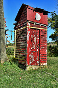 Worn In Metal Prints - Outhouse 9 Metal Print by Paul Ward