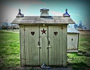 Outhouses Metal Prints - Outhouse - His and Hers Metal Print by Paul Ward