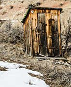 Ghost Town Outhouse Prints - Outhouse with Electricity Print by Sue Smith