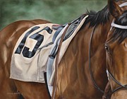Thoroughbred Paintings - Outisde Chance by Linda Shantz