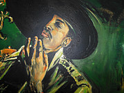 Hiphop Paintings - Outkast - Andre 3000 by Lucia Hoogervorst