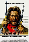Movie Theater Framed Prints - Outlaw Josey Wales The Framed Print by Movie Poster Prints