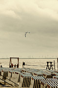 Kite Surfing Metal Prints - Outlawed - Vogelfrei Metal Print by Nicole Frischlich