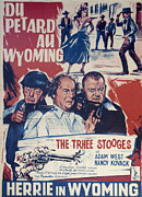 Television Stars Prints - Outlaws Is Coming Print by Official Three Stooges